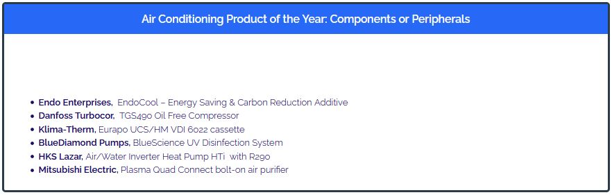 RAC Cooling Awards 2021 - Air Conditioning Product of the Year Shortlist
